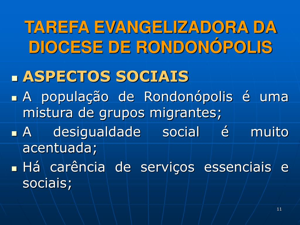 TAREFA EVANGELIZADORA DA DIOCESE DE RONDONÓPOLIS