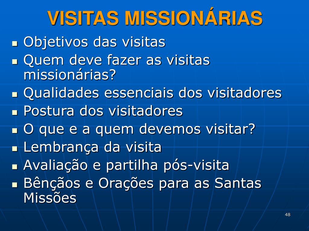 VISITAS MISSIONÁRIAS