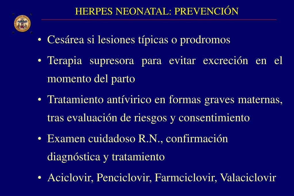 HERPES NEONATAL: PREVENCIÓN