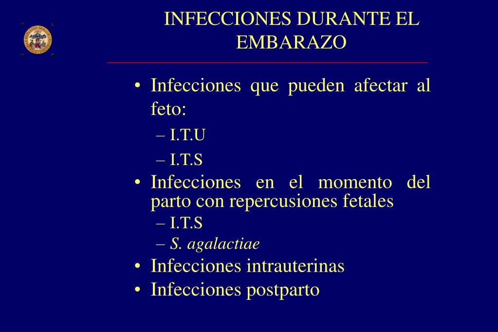 INFECCIONES DURANTE EL EMBARAZO