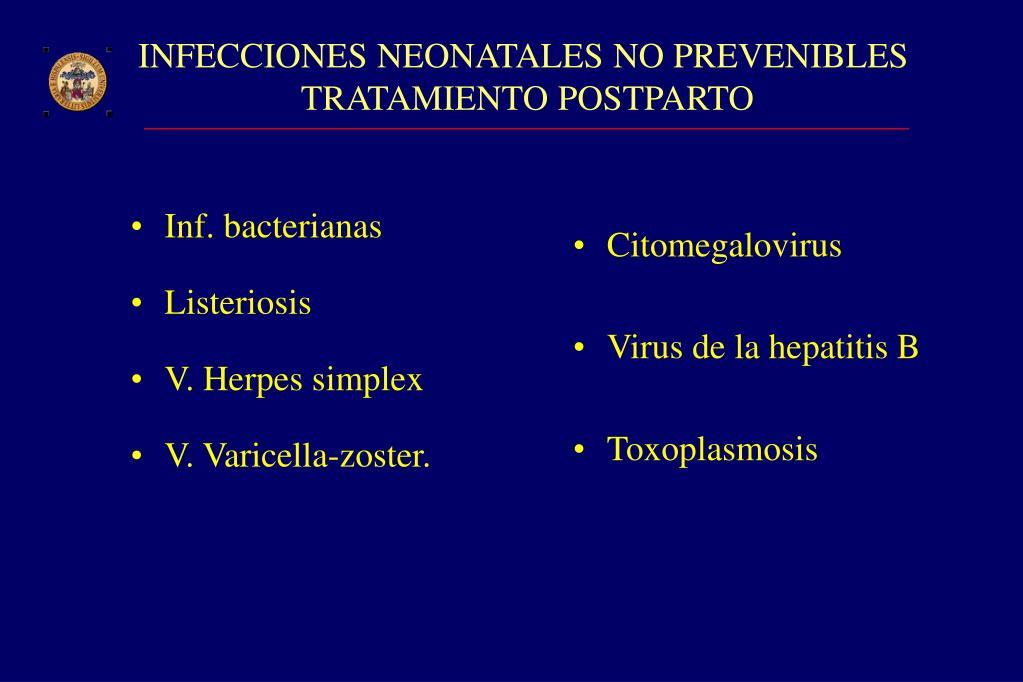 Inf. bacterianas