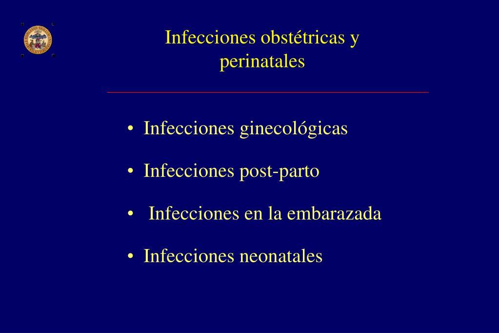 Infecciones obstétricas y perinatales