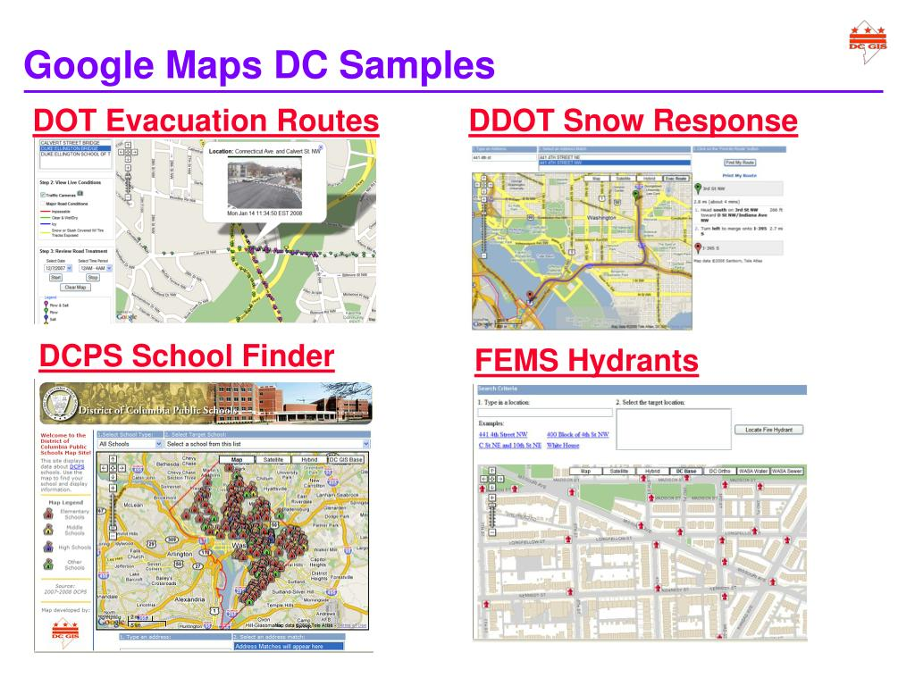 Google Maps DC Samples