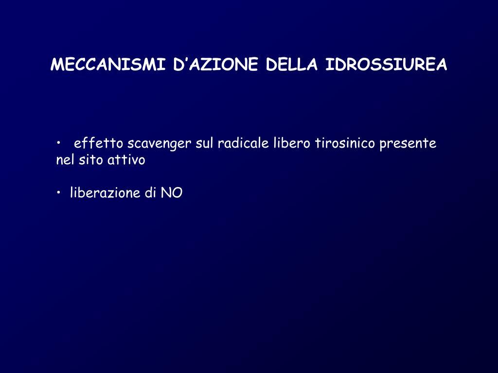 MECCANISMI D'AZIONE DELLA IDROSSIUREA