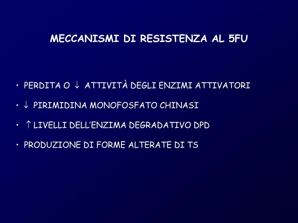 MECCANISMI DI RESISTENZA AL 5FU