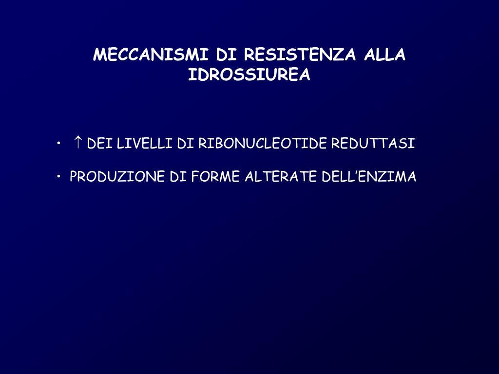 MECCANISMI DI RESISTENZA ALLA IDROSSIUREA