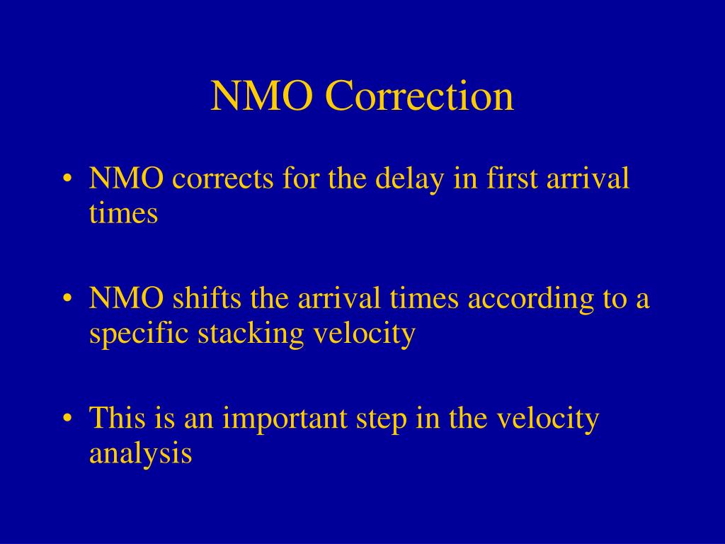 NMO Correction