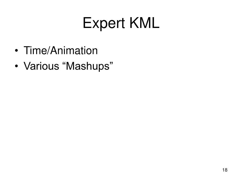 Expert KML