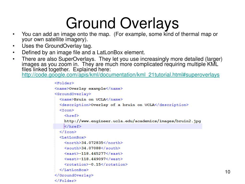 Ground Overlays