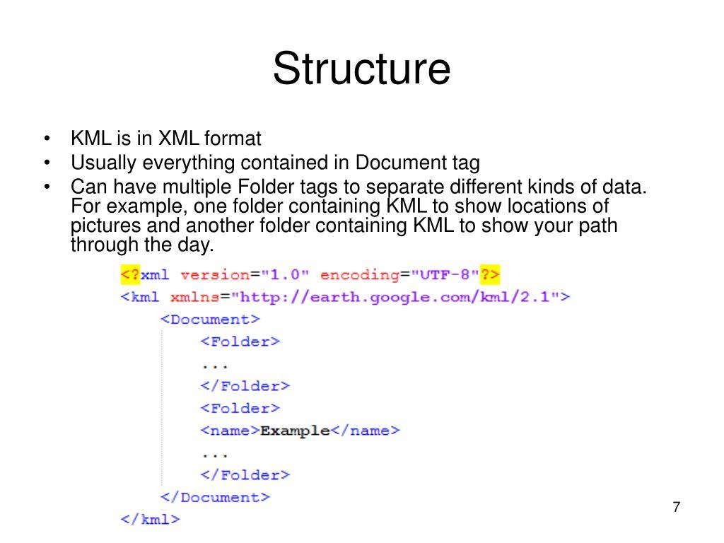 KML is in XML format