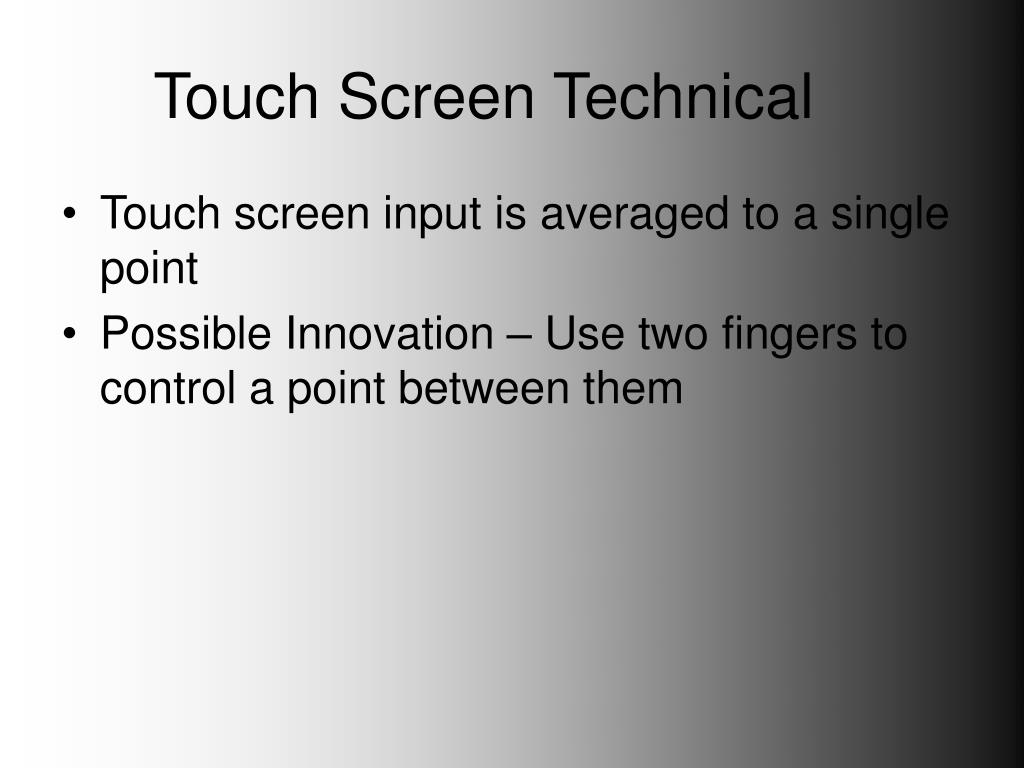 Touch Screen Technical