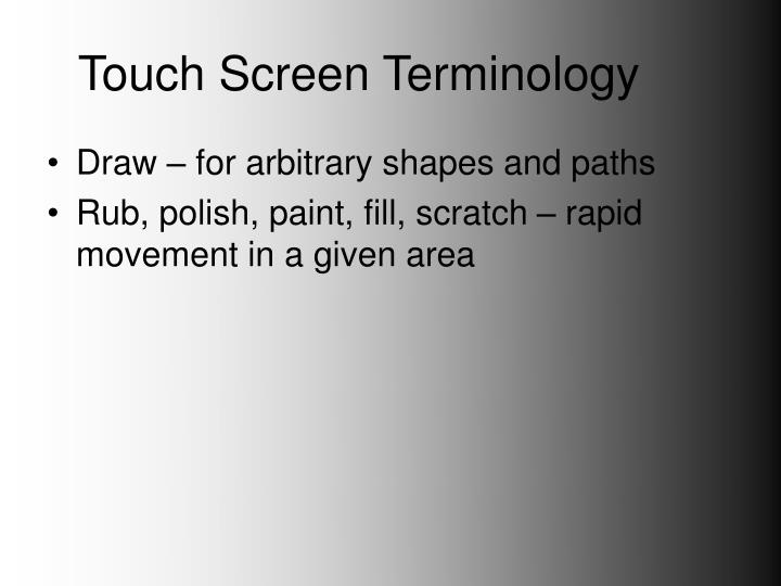 Touch screen terminology3