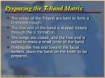 preparing the t band matrix