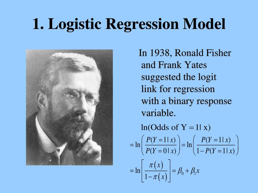 In 1938, Ronald Fisher and Frank Yates suggested the logit link for regression with a binary response variable.