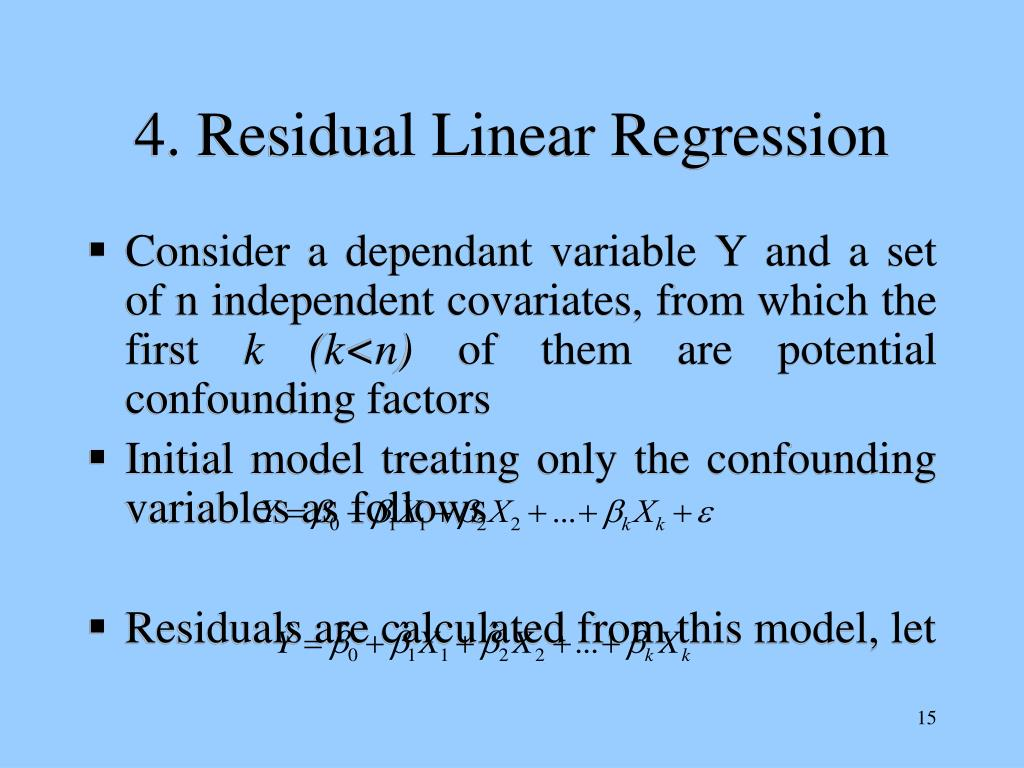 4. Residual Linear Regression