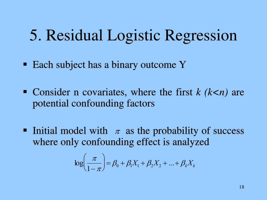 5. Residual Logistic Regression