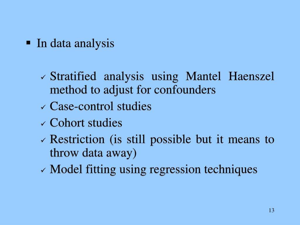 In data analysis