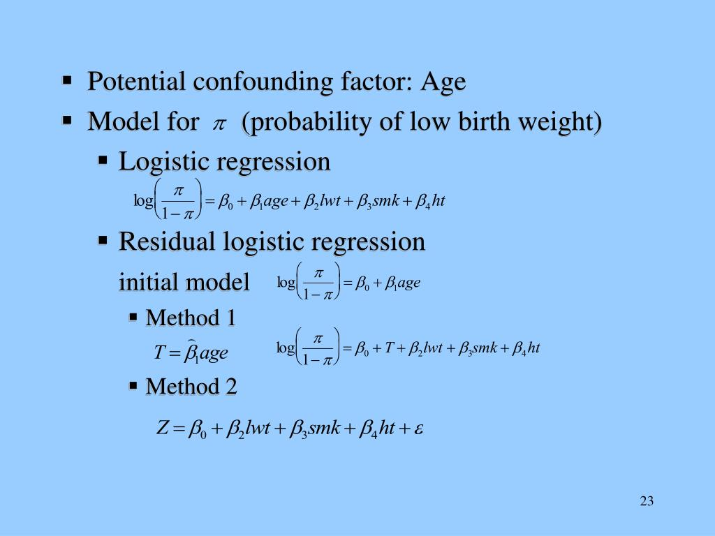 Potential confounding factor: Age
