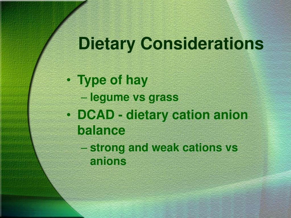 Dietary Considerations