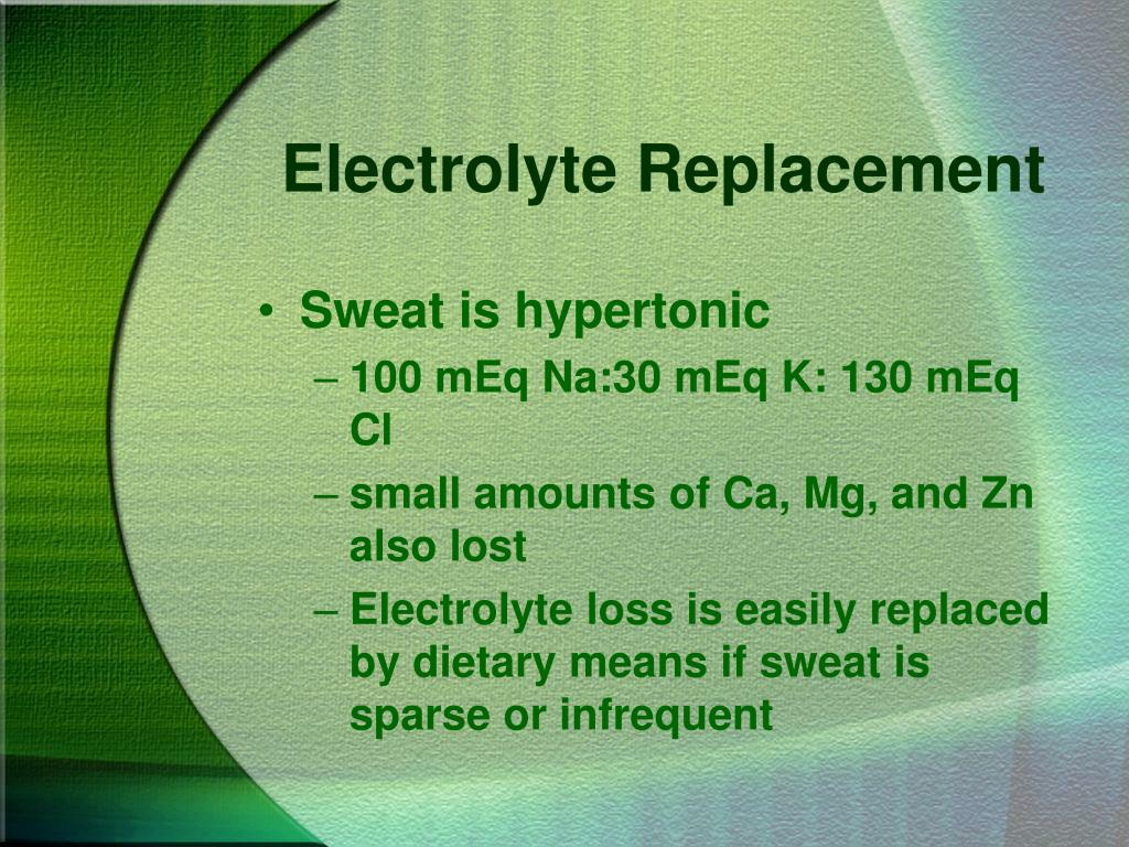 Electrolyte Replacement
