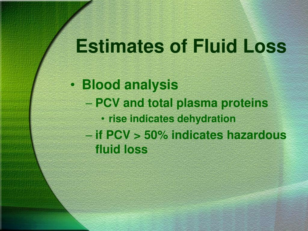 Estimates of Fluid Loss