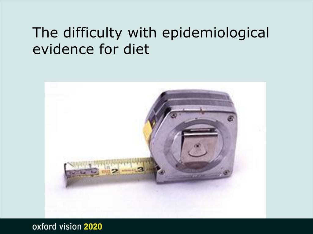 The difficulty with epidemiological evidence for diet