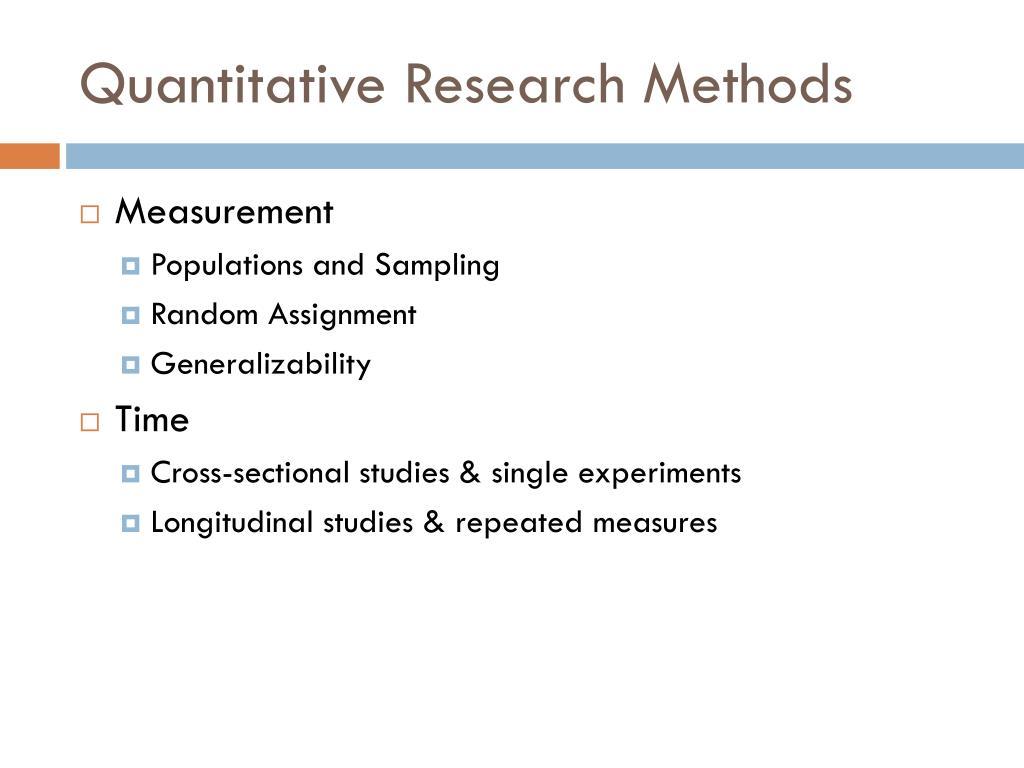 Research methods quantitative