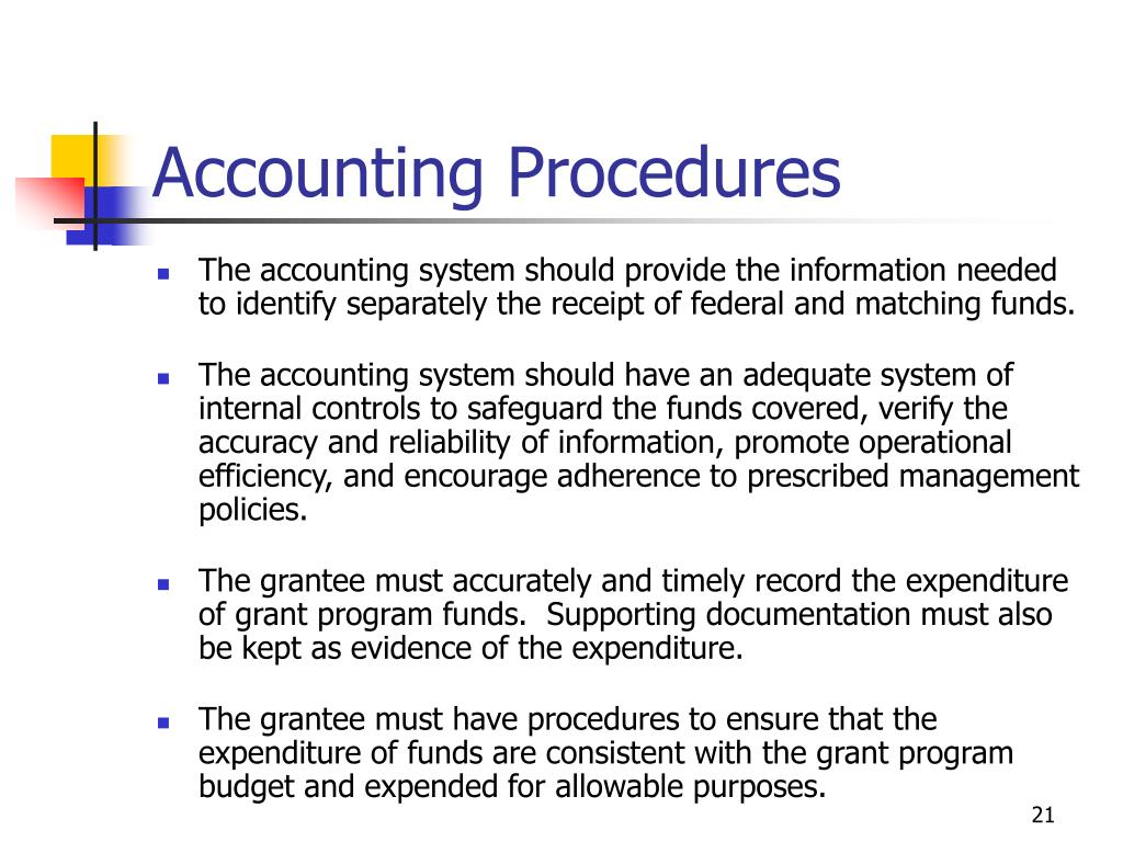 Accounting Procedures