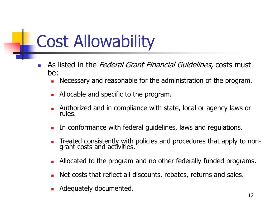 Cost Allowability
