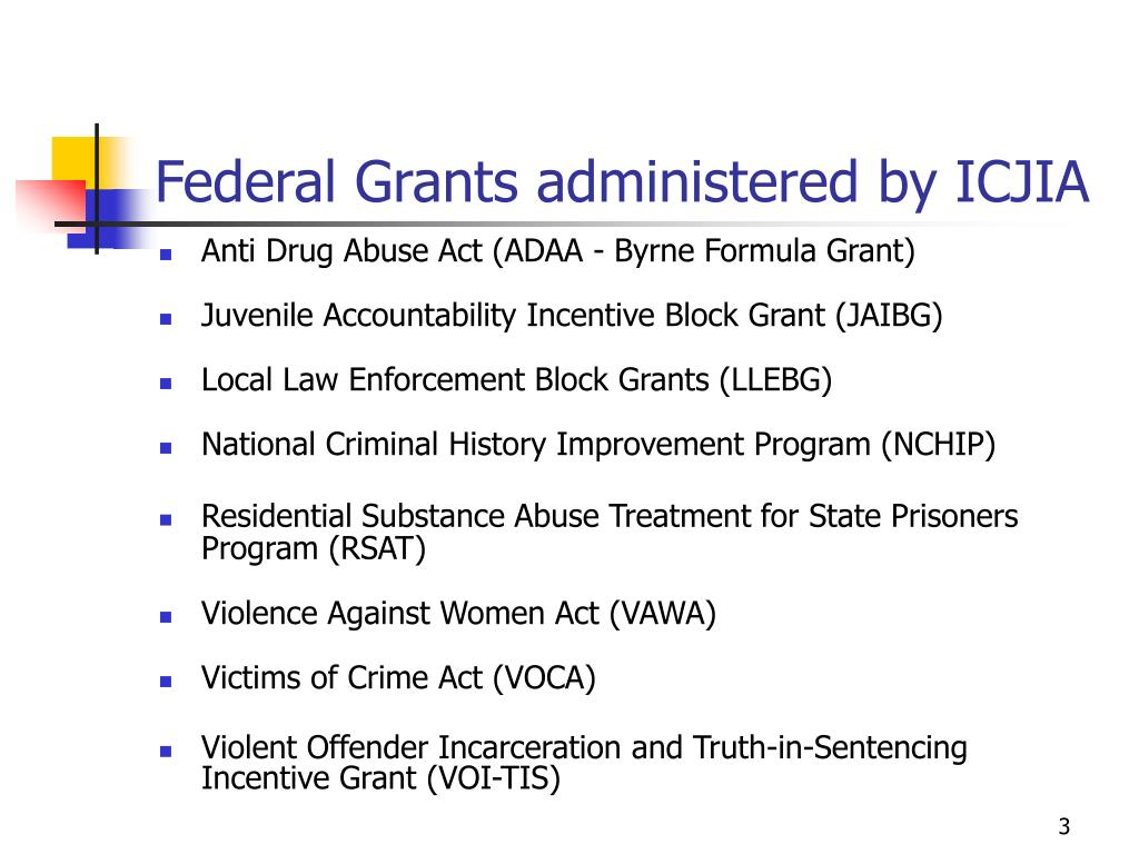 Federal Grants administered by ICJIA