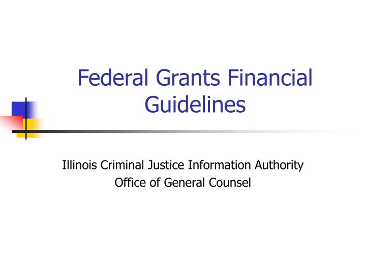 Federal grants financial guidelines l.jpg