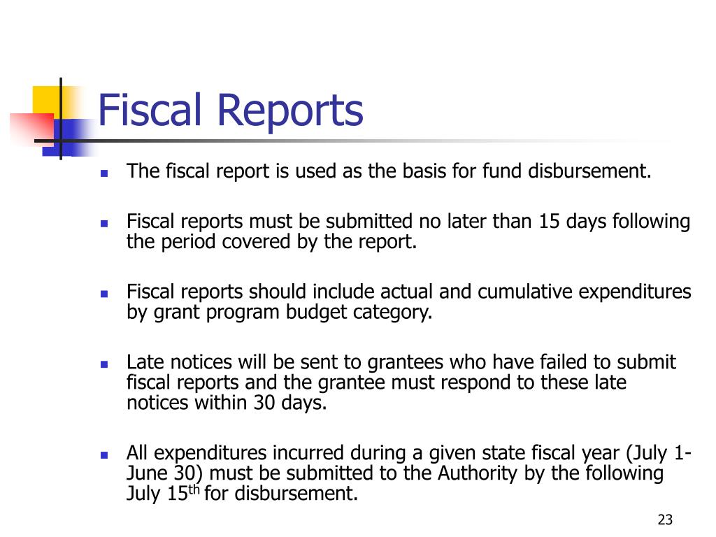 Fiscal Reports