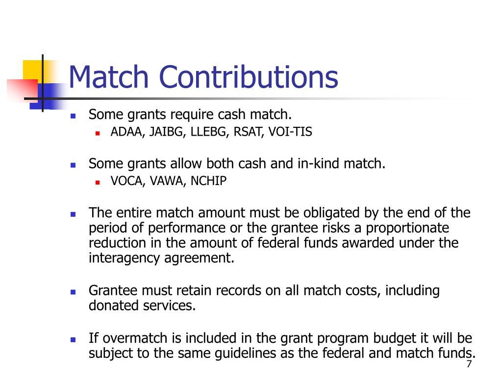 Match Contributions