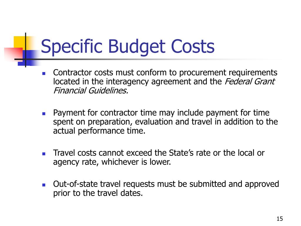 Specific Budget Costs