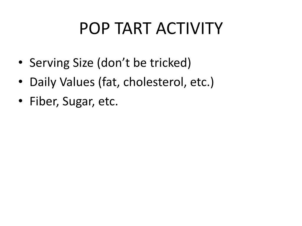POP TART ACTIVITY