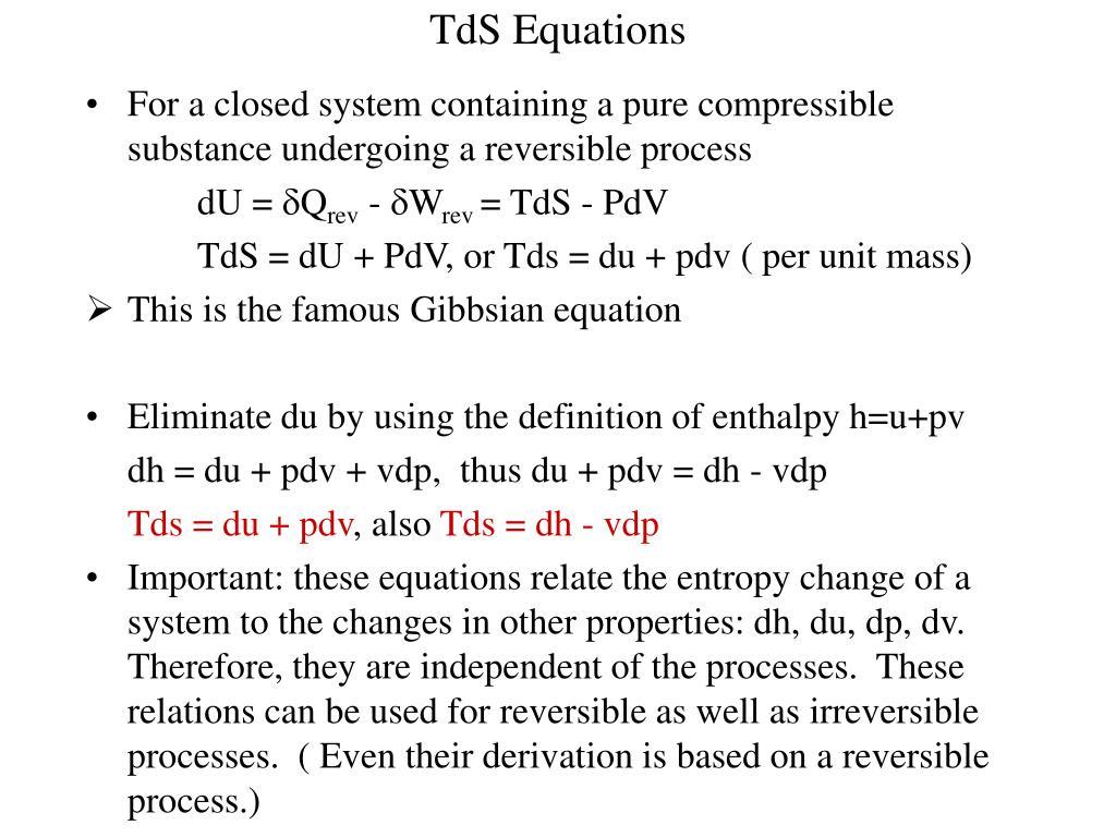 TdS Equations
