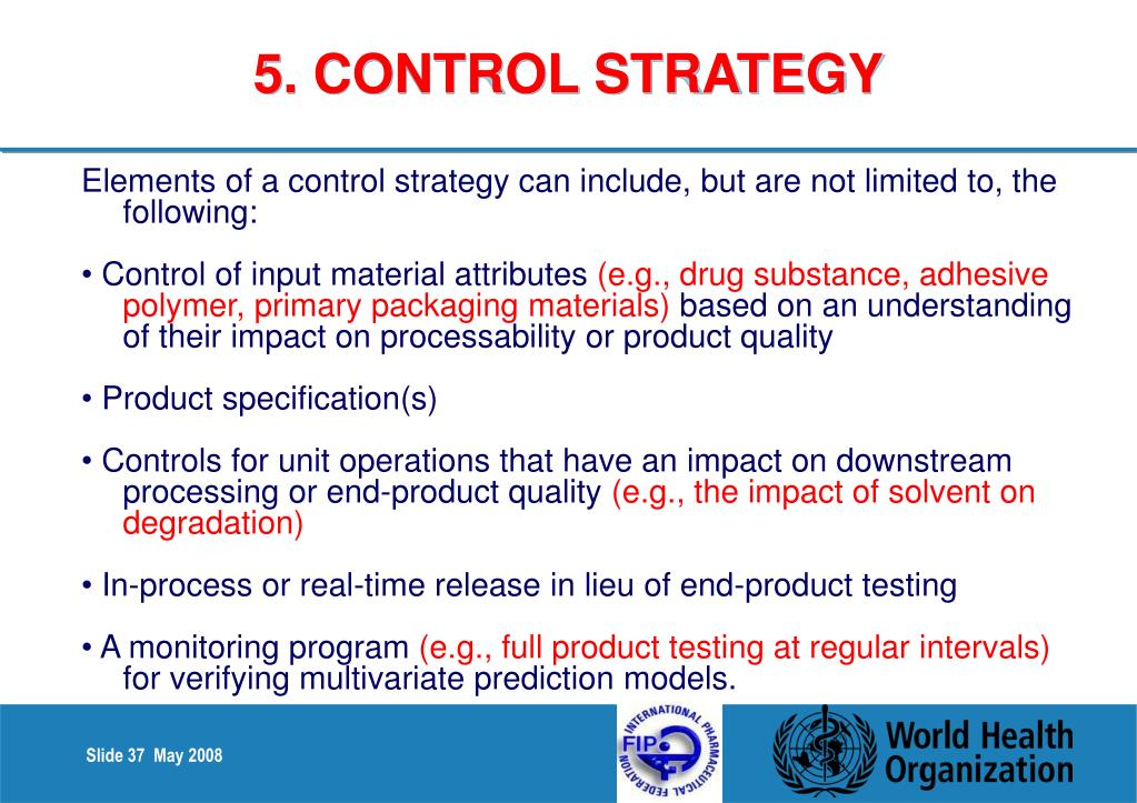 5. CONTROL STRATEGY