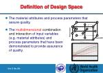 definition of design space