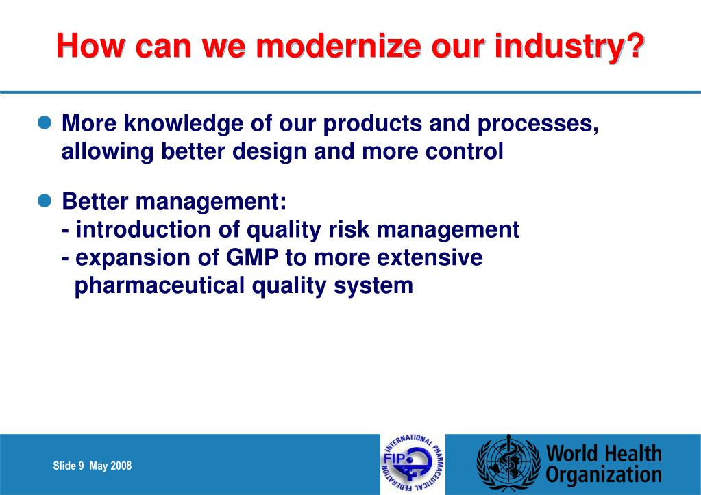 How can we modernize our industry?