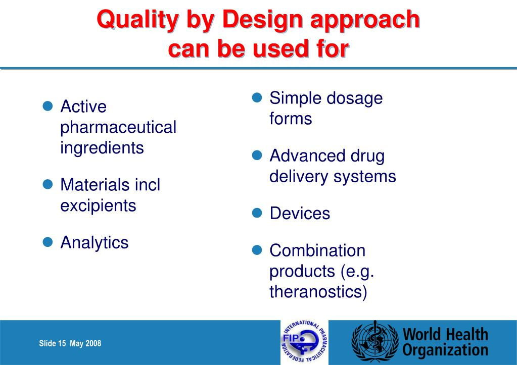 Quality by Design approach