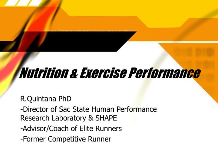 Nutrition exercise performance