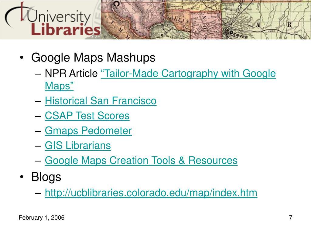 Google Maps Mashups
