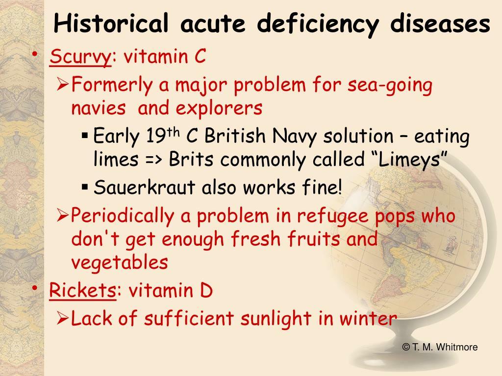 Historical acute deficiency diseases