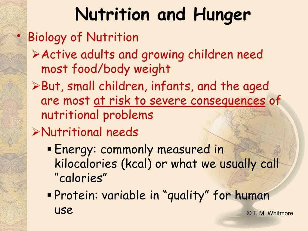 Nutrition and Hunger