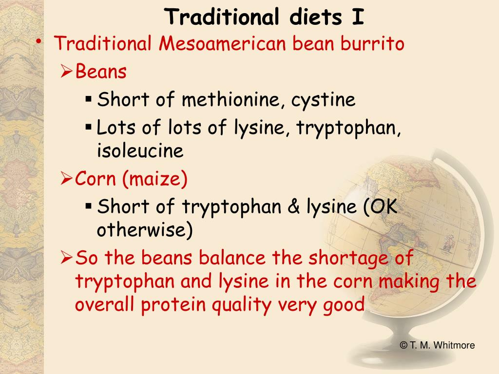 Traditional diets I
