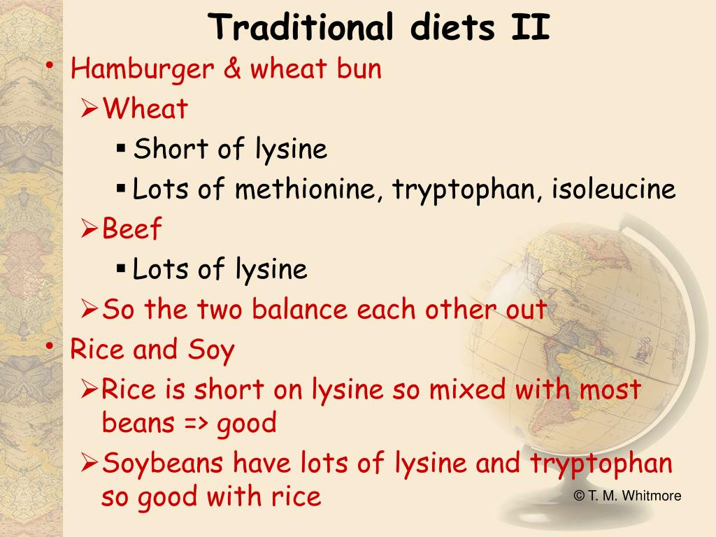 Traditional diets II