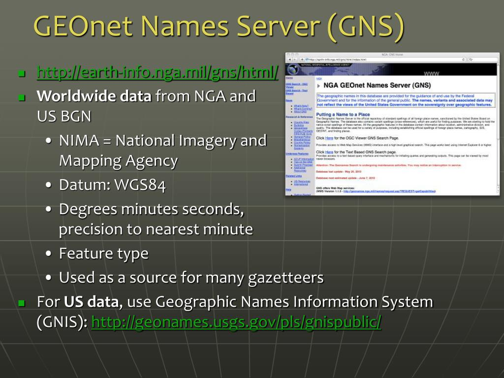 GEOnet Names Server (GNS)