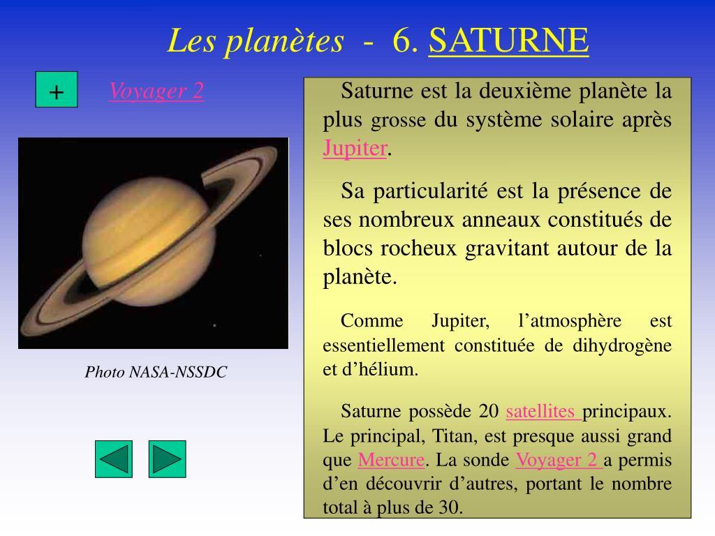 Saturne est la deuxième planète la plus