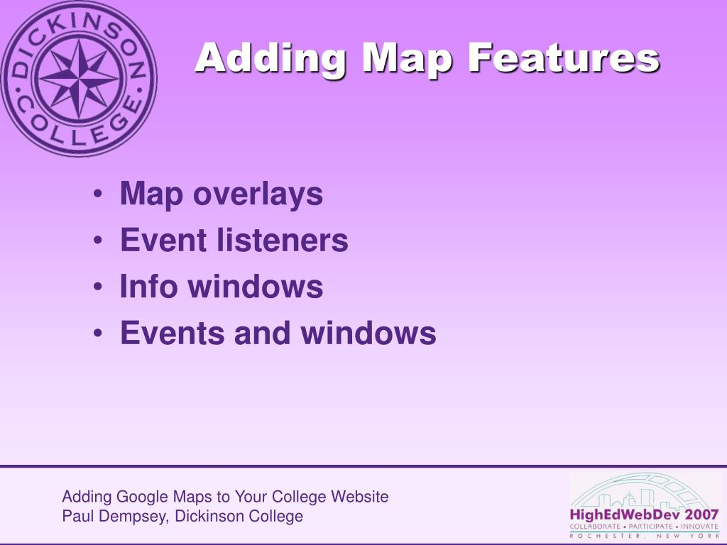 Adding Map Features