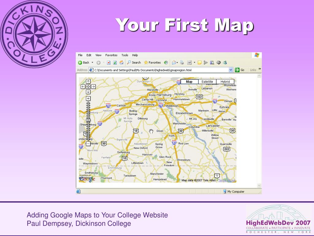 Your First Map